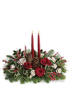 Christmas Wishes Centerpiece Bouquet - Teleflora