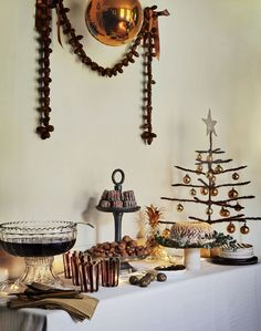 Lavish Dessert Table with Bronze and Gold Decorations