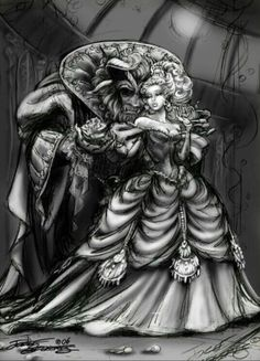 Beauty & the Beast... By Artist Unknown...