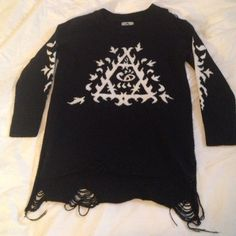 UNIF Ornate sweater Great condition super comfy and fun, rare no longer sold would do $92 over ️️ UNIF Sweaters
