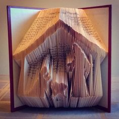 Wow. Nativity scene made by folding the pages of a book. Amazing.