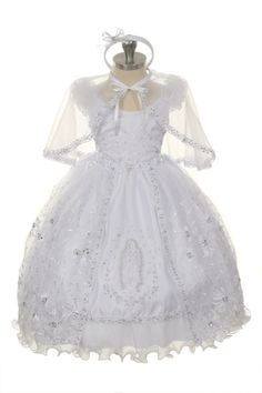 524d7a2f8 Babies christening gowns with Mary embroidered on front. #christening  #babygirlclothes Girls
