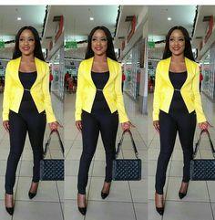 Top Ten Corporate Dresses For Ladies In Nigeria Dabonke Corporate Outfits, Corporate Attire, Casual Outfits, Formal Outfits, Formal Dresses, Office Outfits For Ladies, Cord Pinafore Dress, Business Casual, Top Ten