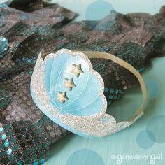 Mermaid crown template