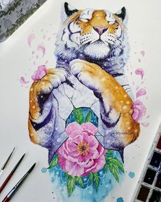 "634 Likes, 4 Comments - My Modern Met (@mymodernmet) on Instagram: ""Self-taught artist Jonna Lamminaho (aka @scandy_girl) creates surreal, nature inspired paintings."""