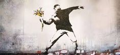 A Banksy mural for sale Banksy Mural, Banksy Artwork, Wall Murals, Diy Craft Projects, Projects For Kids, Bansky, Powerful Art, Tattoo Sketches, Street Art
