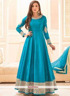 Buy Anarkali Suits and designer Anarkali Salwar Kameez at a great price. For largest collection of Anarkali Suit designs at parisworld. Abaya Fashion, India Fashion, Fashion Dresses, Women's Fashion, Dress Indian Style, Indian Outfits, Abaya Style, Designer Anarkali Dresses, Designer Dresses