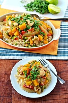Thai Chicken with Squash, Peppers, and Peas | 15 Fresh Spring Dinners You Can Make In A Slow Cooker