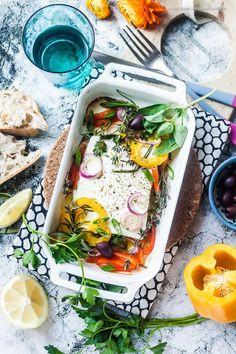 Im Ofen gebackener Feta mit Gemüse und Kräutern | GourmetGuerilla.de