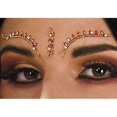Bollywood Eyelash and Eyebrow Jewels- Roman, Egyptian, Greek and Arabian- Themed Accessories- Costume Accessories- Costumes & Accessories - Party America