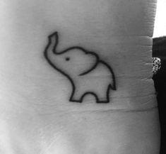 Elephant tattoo Elefant Tätowierung The post Elefantentattoo & tattoo appeared first on Small tattoos . Mini Tattoos, Cute Small Tattoos, Trendy Tattoos, Body Art Tattoos, Tattoos For Women, Cool Tattoos, Tattoo Small, Small Tattoo Quotes, Little Elephant Tattoos