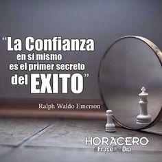 """""""La confianza en si mismo es el primer secreto del exito"""" Ralph Waldo Emerson #Frases"""