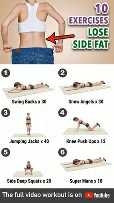 Side Fat Workout, Full Body Gym Workout, Gym Workout Videos, Gym Workout For Beginners, Fitness Workout For Women, Body Fitness, Fitness Workouts, Easy Workouts, Workout Exercises