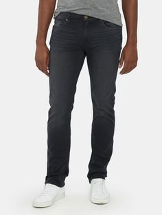 Jean Crafts, Shape Of Your Body, Wear Test, Colored Jeans, Wardrobe Staples, Black Jeans, Slim, Legs, Cotton