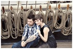 nautical engagement session    photography by: www.amandadoublin.com