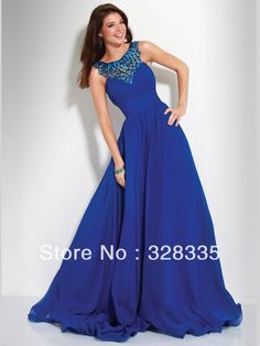 New Arrival Top Halter Beads Sequins A-line Royal Blue Long Prom Graduation Evening Dresses 2013