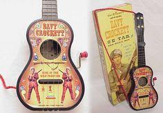 Guitar Blog: 1950's Mattel Walt Disney Davy Crockett plastic Ge-tar