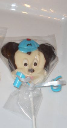 12 Disney Baby Mickey Mouse 1st 2nd 3rd Birthday Baby shower Favor Chocolate Lollipops Birthday Gifts Party Favor Kids. $15.00, via Etsy.
