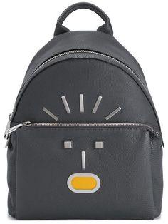 FENDI Fendi Faces Backpack. #fendi #bags #leather #nylon #backpacks #