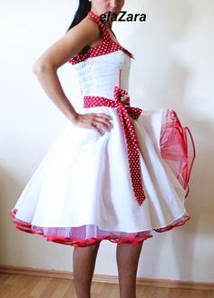 Rockabilly wedding dress by elaZara on Etsy