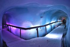 One of the coolest things I've ever seen - the ice caves in Mt. Titlis (Swiss Alps) and the toboggan ride at the top was so wow. Oh The Places You'll Go, Places To Travel, Travel Destinations, Places To Visit, Dream Vacations, Vacation Spots, Vacation Travel, Zermatt, Swiss Alps