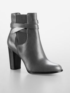 hayla strap detail leather ankle boot - Shoes- Calvin Klein