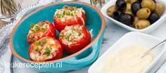 Gevulde tapas tomaten
