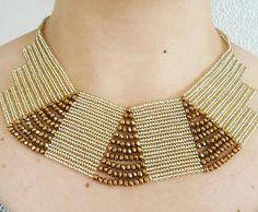 Nuran Beaded Collar, Beaded Lace, Seed Bead Patterns, Beading Patterns, Beaded Earrings, Beaded Bracelets, Beaded Banners, Herringbone Necklace, Beaded Jewelry Designs