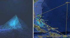 Des pyramides géantes en cristal découvertes aux Bermudes. Grâce à l'utilisation d'un sonar, le Dr. Meyer Verlag, océanographe, a découvert des pyramides de verre, à deux mille mètres sous la mer. L'utilisation d'autres appareils a permis aux scientifiques de constater que ces géants de verre sont tous deux faits d'une substance similaire au cristal, et sont presque 3 fois plus grands que les pyramides de Khéops, en Égypte.