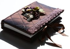 Fabric covered Photo Album, with a vintage look.