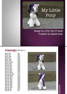 ม้าโพนี่ Crochet Doll Pattern, Crochet Patterns Amigurumi, Amigurumi Doll, Crochet Dolls, Poney Crochet, Crochet Bookmarks, Unicorn Pattern, Button Crafts, Stuffed Toys Patterns