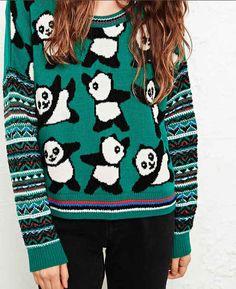Panda Sweater- UMMMM AMAZING!!!!! 15 Pieces Of Panda Swag You Need To Get Immediately