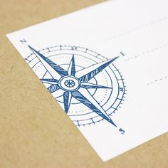 Maritime sticker with compass detail
