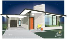 Starlight Village - a brand new, midcentury modern styled neighborhood in metro Austin, Texas - Retro Renovation Carport Modern, Modern House Floor Plans, Midcentury Modern House Plans, Butterfly Roof, Mid Century Modern Lighting, Retro Renovation, Ranch House Plans, Mid Century House, 21st Century
