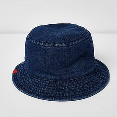 Blue denim bucket ha