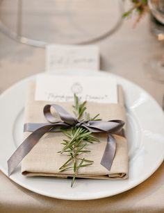 Place setting. #Reception #Decor #Ribbons #Celebstylewed. @Celebrity Style Weddings