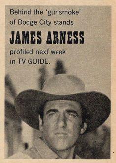 1966 TV GUIDE PROMO AD~GUNSMOKE TV WESTERN~JAMES ARNESS as MARSHAL MATT DILLON