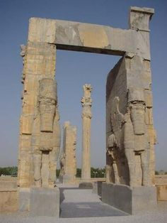 Gate of Nations at Persepolis as it stands today.