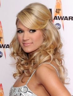 Carrie Underwood Curly Hairstylescarrie Underwood Half Updo With Hump Hairstyles Free Download Axyrsbhd