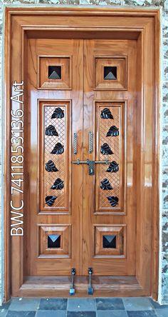 Pooja Room Door Design, Door Design Interior, Wooden Main Door Design, Tiny House Stairs, Bedroom Cupboard Designs, Pooja Rooms, Room Doors, Wooden Doors, Pasta