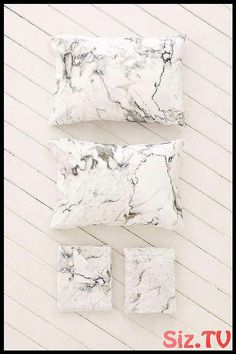 White Room Decor Ideas For A Fresh Summer - Marble Sparkle Tiles, Marble Sheets, Marble Bedroom, White Room Decor, House Essentials, Cute Bedding, Geometric Cushions, Sofa Home, Luxury Bedding Sets