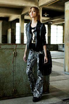 Pantalones de moda en la propuesta Tucci otoño invierno 2014. Moda Argentina 2014.