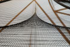 Kanata Goto, Consciousness Image, metal,polyester threads, 258x248x17cm, 2016 (detail)