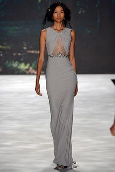 Dove Gray  |  Badgley Mischka: Spring 2013 Ready-To-Wear