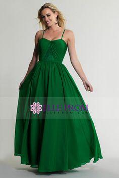 2015 Spaghetti Straps Prom Dress A Line Floor Length With Ribbon Chiffon USD 106.99 EPPDY7AZBB - ElleProm.com