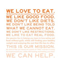 Great manifesto for nutritionists!