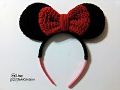 Ravelry: Minnie Mouse Inspired Headband pattern by Jenna Johnston