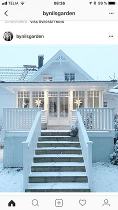 Home Focus, Swedish Cottage, Nordic Home, Cabins And Cottages, Curb Appeal, My Dream Home, Exterior Design, Farmhouse Style, Beautiful Homes