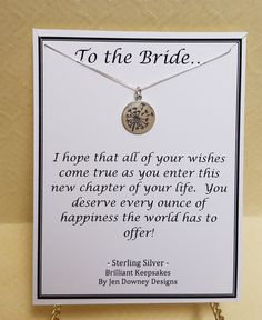 Bride Wedding Wishes Sterling Silver Dandelion Pendant Charm Necklace Daughter In Law Quotes, Daughter In Law Gifts, Wedding Wishes, Wedding Bride, Wedding Day, New Chapter, Box Chain, Dandelion, Charms