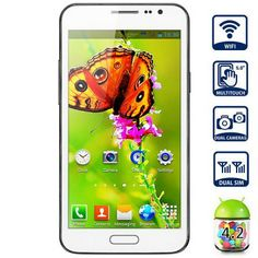 JIAKE G910 Unlocked Phone with MTK6572 1.2GHz Android 4.2 WiFi 5.0 inch WVGA Screen (WHITE) | Everbuying.com